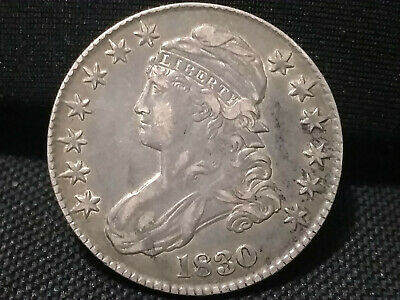 1830 Capped Bust Silver Half Dollar 50C