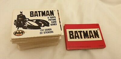 Batman 1989 Topps Picture Card Series - Complete Set #1 - #132 - No stickers