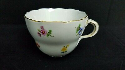 Meissen Cup Scattered Flowers No Saucer