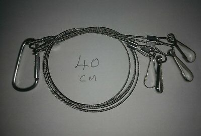 Hydroponics Wire Rope Hanger LED Grow Light  Yard Ornaments 40cm & Carabiner