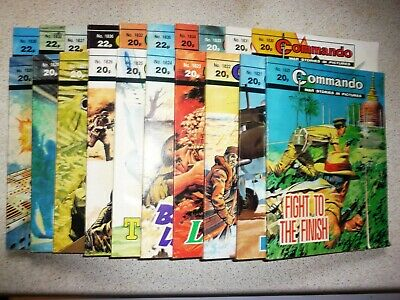 20. very old Commando war comics.