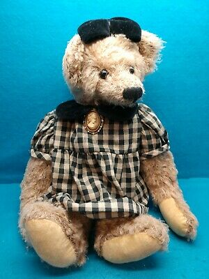 ASHTON DRAKE GALLERIES Vintage Style JOINTED Teddy Bear 1999 Brown Victorian