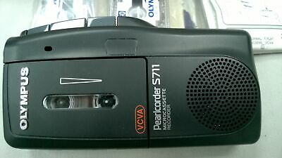 Olympus Pearlcorder S711 MicroCassette Voice Recorder Dictaphone Dictation BLACK