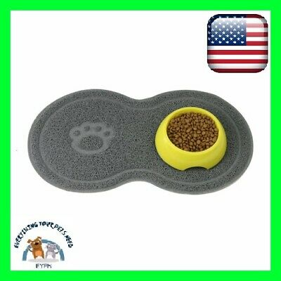 Pet Dog Puppy Cat Feeding Mat Pad Cute Bed Dish Bowl Food Feeding Placemat NEW !