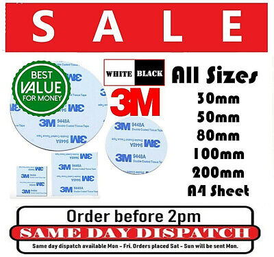 3M 9448 Double Sided Foam Self Adhesive Stickers Sticky Pads No MORE NAIL - DIY
