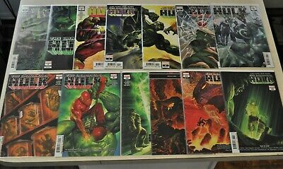 Immortal HULK full lot all issues 1-13 Ross covers #2 first Dr Frye 2nd print va
