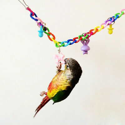 Colorful Bird Toy Parrot Swing Cage Toys For Parakeet Cockatiel Budgie Lovebirds