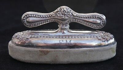 Antique Sterling Silver Repousse Nail Buffer