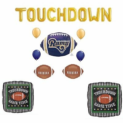 ANAGRAM FOOTBALL TOUCH Down Foil Balloon Bouquet 5 Balloons Party