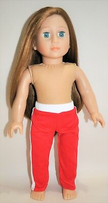 American Girl Doll Our Generation Journey 18 Dolls Clothes Red Track Pants