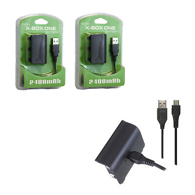 Xbox One - Play and Charge Kit X2 Hexir (Charging Cable Adapter Battery Pack)
