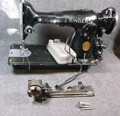 Vintage Singer Sewing Machine 201 Still Functions