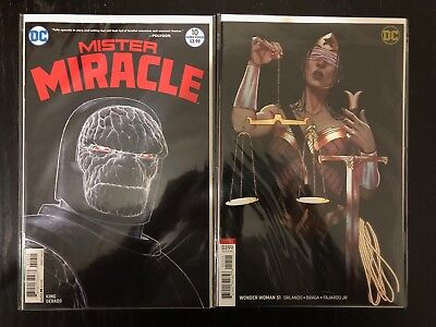 DC Comics Mister Miracle 10  & Wonder Woman 51 Variant VFNM Lot of 2 Darkseid