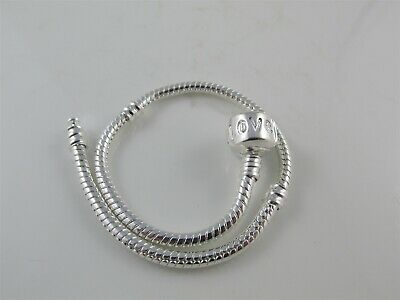 Toddler Child 14cm Silver Plated Charm Bracelet, Love Clasp fit European Beads