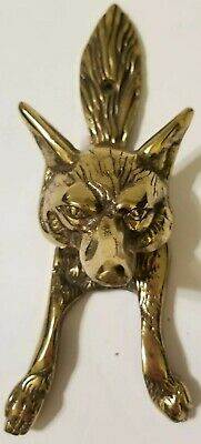 Vintage FOX HEAD Brass Door Knocker
