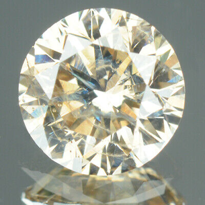 1.03 ct CERTIFIED Round Cut Golden Brown Color, Enhanced Natural Diamond J330