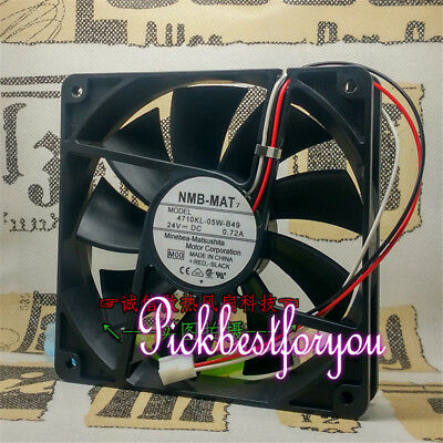NMB 4710KL-05W-B49 DC24V 0.22A 120*120*25MM 3pin Inverter cooling fan #MQ15 QL