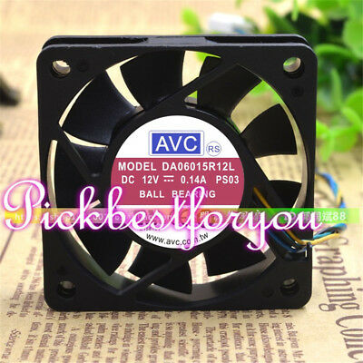 1pc AVC DA06015R12L PWM Silent fan 6pin 12V 0.14A  60*60*15mm #M84B QL