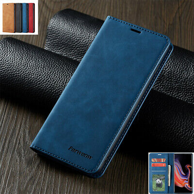 For Samsung S8 S9 S10+ A8 2018 Magnetic Flip Leather Wallet Stand Case Cover