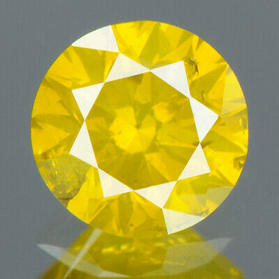 0.78 cts. CERTIFIED Round Vivid Golden Yellow Color Loose Natural Diamond 13921