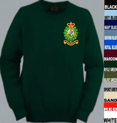 To Clear Rrf Royal Regiment Of Fusiliers Glenmuir Lambswool Jumper Medium Green