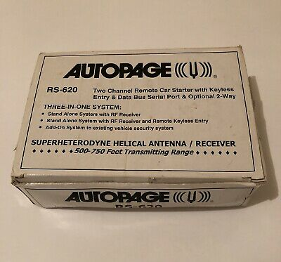 Autopage RS-620 / Remote Car Starter with Keyless Entry / Never Used