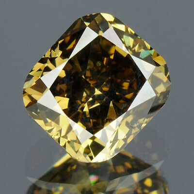 0.63 cts. CERTIFIED Cushion Cut SI2 Deep Green Color Loose Natural Diamond 13868