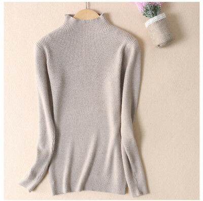 e73d520ce2 New Ladies Half Turtleneck Cashmere Sweater Women Pullover Slim Knitted  Sweaters