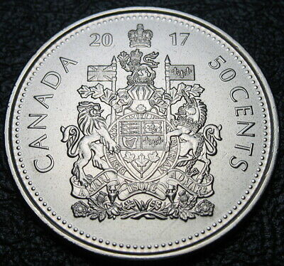 RCM - 2017 - 50-cents - Classic Coat of Arms - BU ( From a new roll )