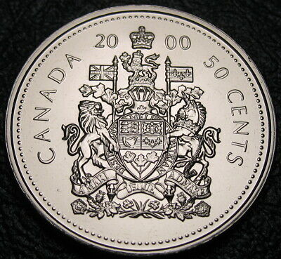 """RCM Coat of Arms 1998-50-cent no /""""w/"""" Uncirculated Proof Like"""