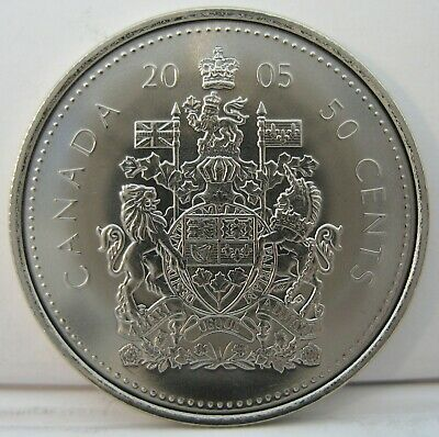 RCM - 2005-p - 50-cents - Coat of Arms - BU ( From a new roll )