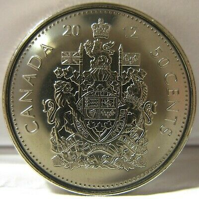 RCM - 2012 - 50-cents - Coat of Arms - BU ( From a new roll )