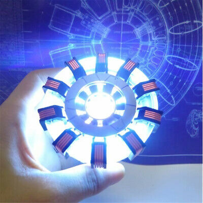 1:1 MK1 Arc Reactor DIY Model Kits LED Chest Light USB Powered Movie Props Gifts