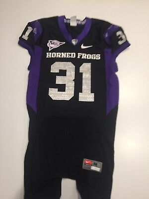 GAME WORN USED Nike TCU Horned Frogs Football Jersey  24 Size M ... 025d40650