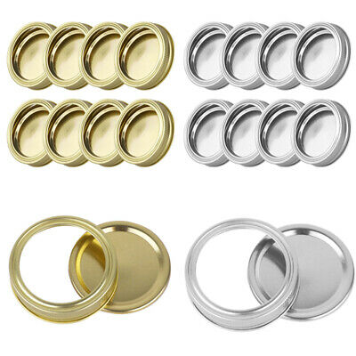 8pcs 70mm Screw Bands/Seal Lids Rings Removable Discs Cap for Mason Jar Canning