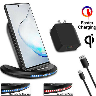 For Samsung Galaxy S10 S9 S8 Plus Note 9 Qi Wireless Fast Charger Charging Stand
