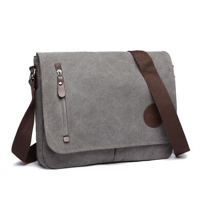 896c57b1f9 DASEIN MEN HANDBAG Vintage Unisex Large Canvas Messenger Bag Cross ...