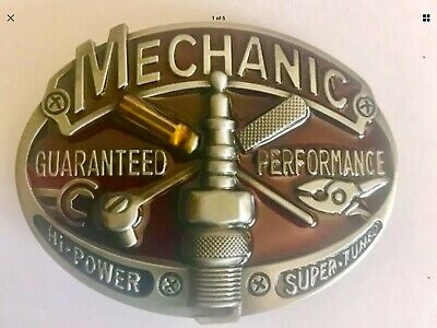 Mechanic belt buckle brand new in packet awesome looking buckle