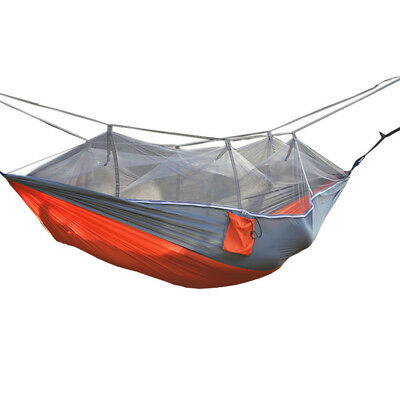Portable Outdoor Camping Nylon Hanging Sleeping Swing Hammock Bed Mosquito Net