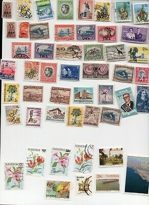 NAMIBIA Stamps 50 All Different - Off Paper