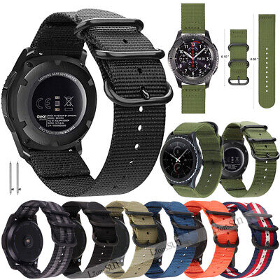 18/20/22mm Soft Woven Nylon Watch Band Strap For Samsung Gear S2 S3 46mm Huawei