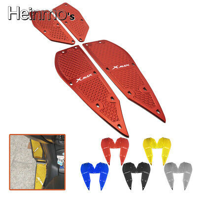 Foot Peg Plate Footrest Step Pad Mat Cover For Yamaha XMAX 250 300 2017-2018 Red