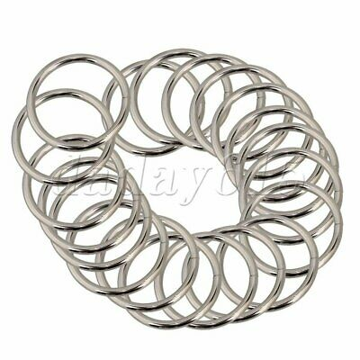 Metal Silver O Ring for 38mm Webbing Buckle Strap Adjuster Pack of 20