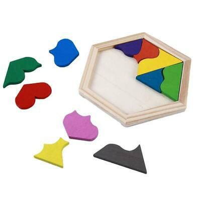Wooden Tangram Brain-Teaser Puzzle Game Educational Jigsaw Puzzle Toys T