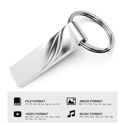 2TB Metal USB Flash Drive Memory Stick Storage Thumb Key U Disk For PC
