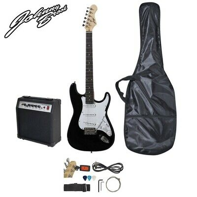 Johnny Brook Standard Electric Guitar Kit with 20W Combo Amplifier & Bag (BLACK)