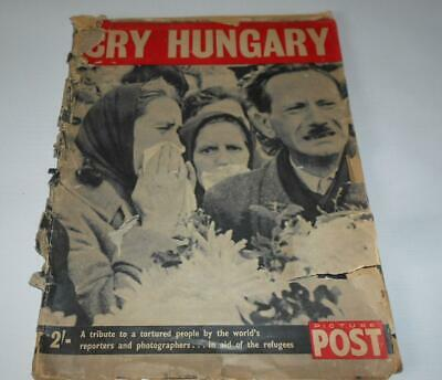 1956 'Cry Hungary' Picture Post Magazine Hungarian Revolution Budapest Magyar