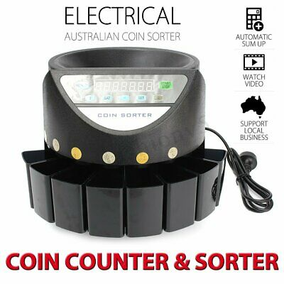 Coins Counter Machine LED Display Digital Automatic Electronic Australian Sorter