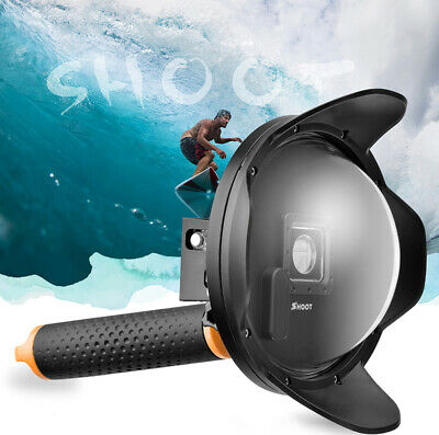 SHOOT Dome Port Diving Housing Underwater Cover Shell Case for GoPro Hero 4 3+