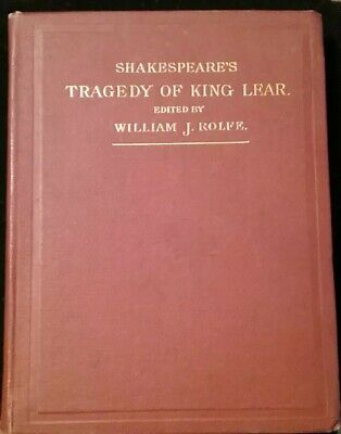 Antique Book - Shakespeare THE TRAGEDY OF KING LEAR 1893